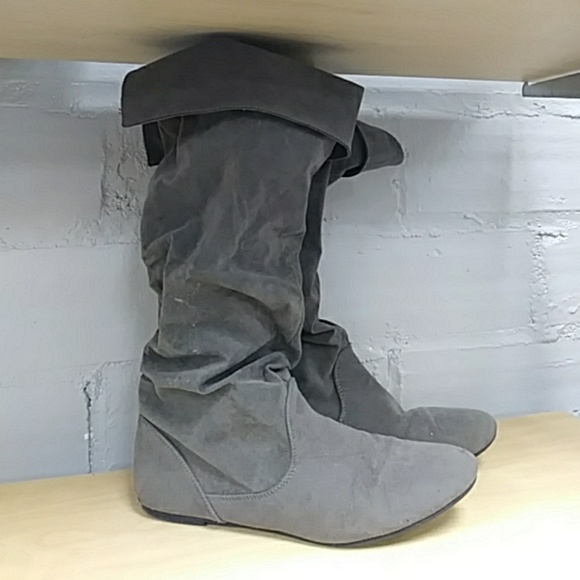 640d3d0690ce Wet Seal Shoes | Womens Sz 9 Tall Gray Boots | Poshmark